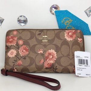 COACH💎PRARIE DAISY CITY PHONE WALLET SET